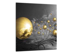 Okker gömbök képe (V020109V3030)