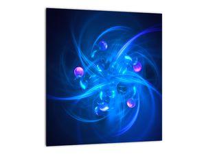 Moderní obraz modré abstrakce (V020137V3030)