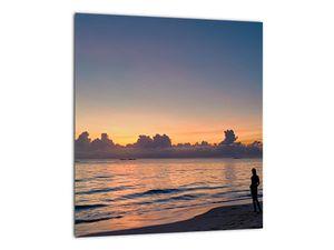 Kép egy nőről a tengerparton (V020204V3030)