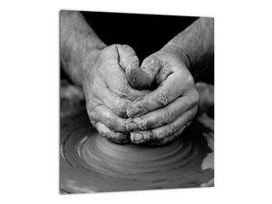 Černobílý obraz - výroba keramiky (V020349V3030)