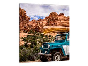 Obraz terenního auta v horách (V020603V3030)