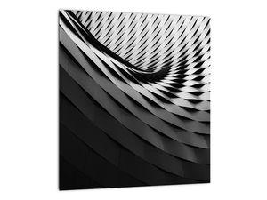 Abstraktní obraz - černobílá spirála (V020667V3030)