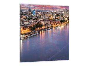 Obraz nočného mesta Bratislavy s riekou (V020706V3030)