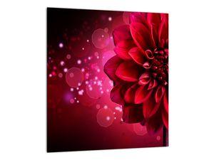 Obraz červené kvety (V020807V3030)