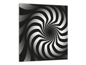 Abstraktní obraz černobílé spirály (V020831V3030)