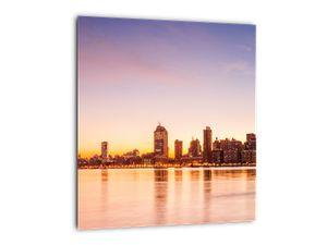 Obraz města při západu slunce (V020924V3030)