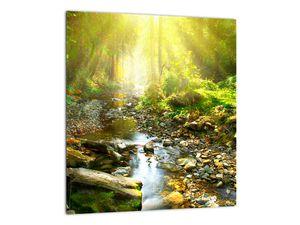 Obraz řeky v zeleném lese (V020942V3030)