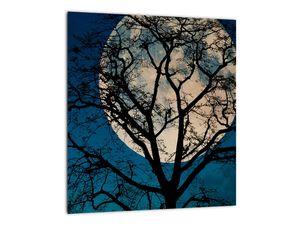 Obaz stromu s úplňkem (V021355V3030)