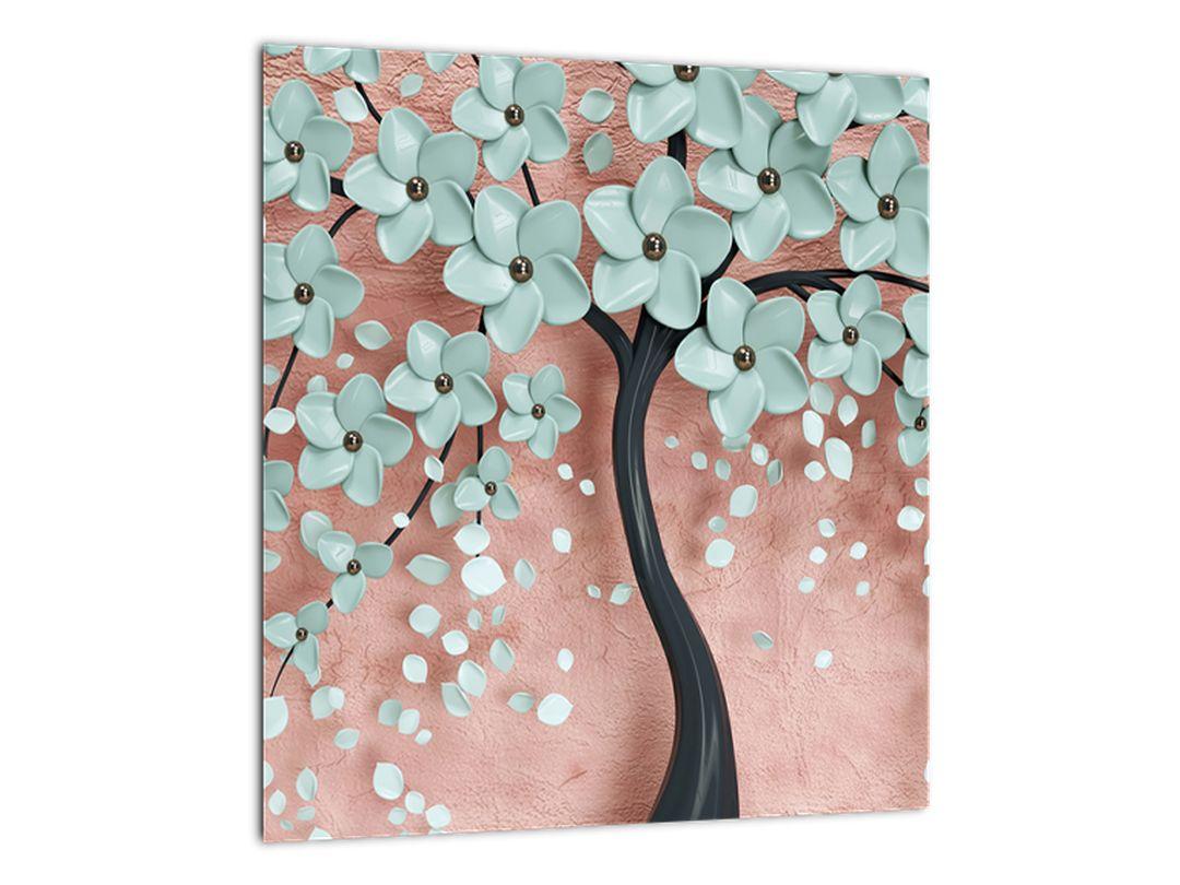 Obraz - Pastelově modré květy (V021459V3030)
