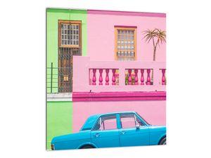 Obraz auta - barevné domy (V021582V3030)