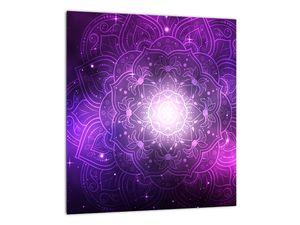 Obraz fialové abstrakce (V022148V3030)