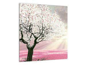 Růžový obraz stromu (V020058V4040)
