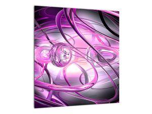 Obraz krásné fialové abstrakce (V020060V4040)