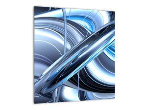 Tablou cu abstracție albastră (V020061V4040)