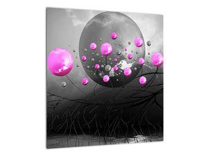 Tablou cu bile roz  (V020105V4040)