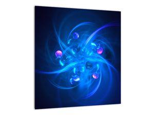Moderní obraz modré abstrakce (V020137V4040)