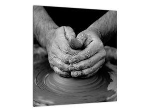 Černobílý obraz - výroba keramiky (V020349V4040)