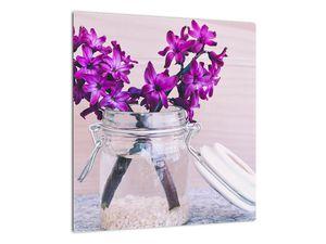 Obraz fialových květin (V020367V4040)