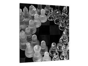 Obraz - černobílé šachy (V020598V4040)