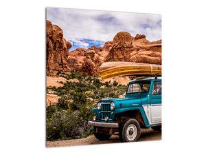 Obraz terenního auta v horách (V020603V4040)