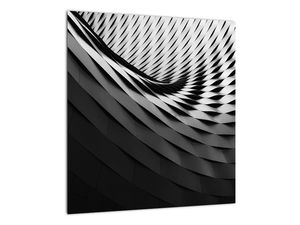 Abstraktní obraz - černobílá spirála (V020667V4040)