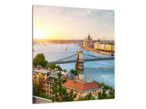 Obraz města Budapešť s řekou (V020712V4040)