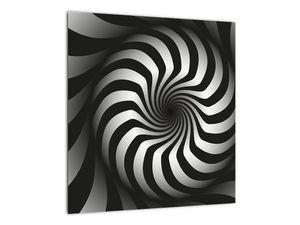 Abstraktní obraz černobílé spirály (V020831V4040)