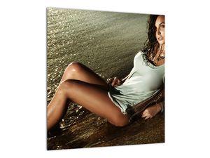 Slika žene na plaži (V020937V4040)