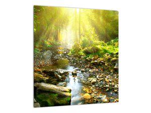 Obraz řeky v zeleném lese (V020942V4040)