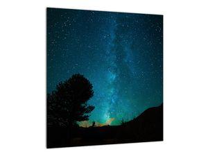 Obraz nočnej oblohy s hviezdami (V021100V4040)