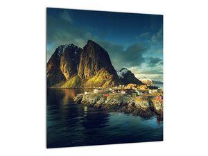 Obraz rybářské vesnice v Norsku (V021280V4040)