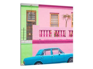 Obraz auta - barevné domy (V021582V4040)