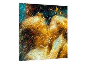 Obraz - Bozkávajúci sa anjeli (V021614V4040)