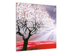 Červený obraz stromu (V020052V5050)