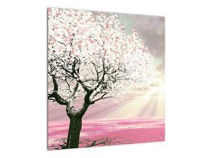 Růžový obraz stromu (V020058V5050)