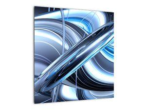 Tablou cu abstracție albastră (V020061V5050)