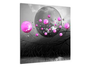 Tablou cu bile roz  (V020105V5050)