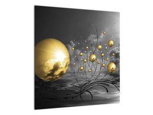 Okker gömbök képe (V020109V5050)