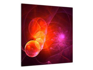 Moderní obraz růžové abstrakce (V020129V5050)