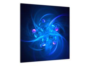 Moderní obraz modré abstrakce (V020137V5050)