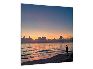 Kép egy nőről a tengerparton (V020204V5050)