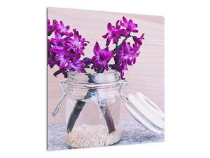 Obraz fialových květin (V020367V5050)