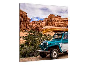 Obraz terenního auta v horách (V020603V5050)