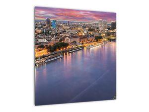 Obraz nočného mesta Bratislavy s riekou (V020706V5050)