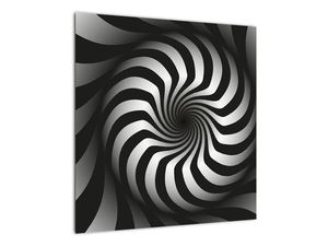 Abstraktní obraz černobílé spirály (V020831V5050)