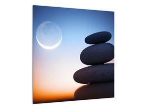 Obraz poskládaných kamenů na sobě (V020903V5050)