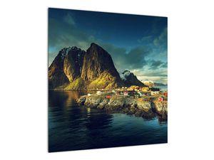 Obraz rybářské vesnice v Norsku (V021280V5050)