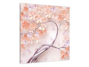 Obraz korálových květů stromu - abstrakt (V021301V5050)