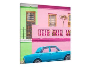 Obraz auta - barevné domy (V021582V5050)