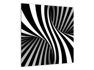 Abstraktní obraz se zebrovými pruhy (V021960V5050)